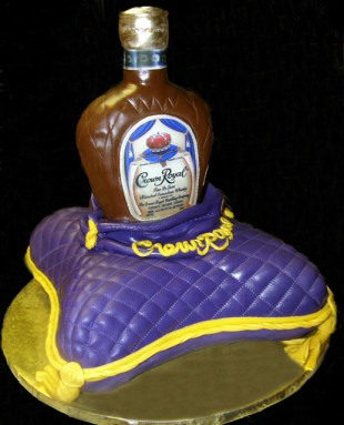 Crown Royal and Pillow Cake