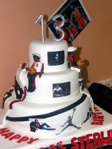 Micheal Jordan 13th Birthday Cake