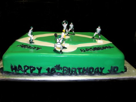 Perry Panthers High School Baseball Cake