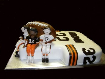 Cleveland Browns Throwback Jersery Cake