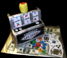 Square Slot Machine Cake