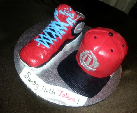 Derrick Rose Hat and Shoe Cake