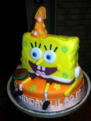 Party Sponge Bob 3D Cake
