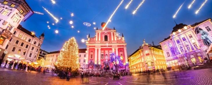Christmas market in Ljubljana 2017