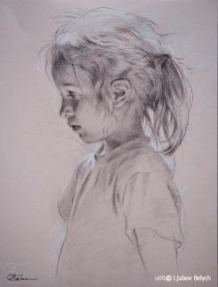 Mädchenporträt 45x35