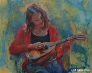 Mädchen mit Mandoline 80x100 2010