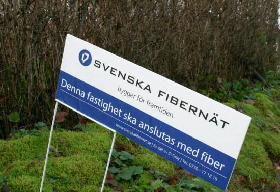 Svenska Fibernät bygger för framtiden - fast litet senare - eller snarare inte alls...