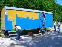 Bauwagen Herrichten 21.5.2005 - 06