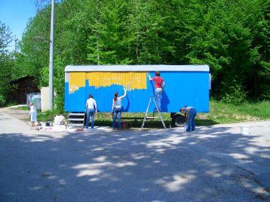 Bauwagen Herrichten 21.5.2005 - 14