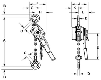 Bandit Ratchet Lever Hoist, Ratchet Lever Hoists, Puller