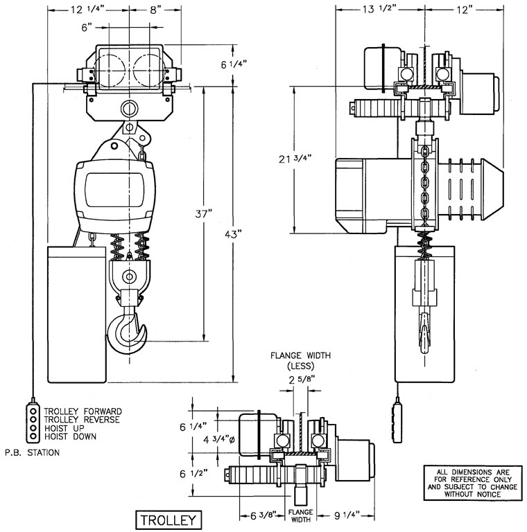 Saturn Chain Hoists, Motorized Trolleys for Chain Hoists
