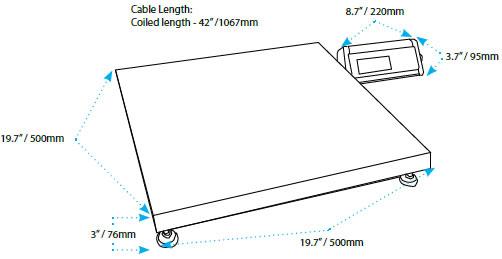 CPWPlus-M Weighing Scales, Floor Scale, Floor Balance