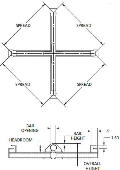 HFPSL Four Point Sack Lifter Beam, Lifting Beam, Lifting