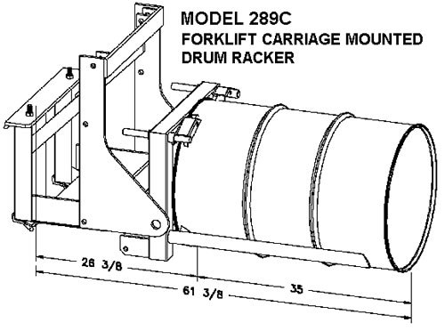 Morstack Forklift Mounted Drum Rackers, Fork Mounted Drum