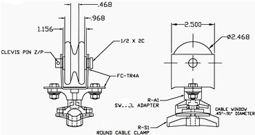Round Cable and Air Hose Festoon System, Wire Supported