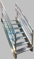Welded Aluminum Prefab Stairways, Galvanized Stairs ...