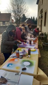Zwischenseminar SG Grün Streetart-Workshop