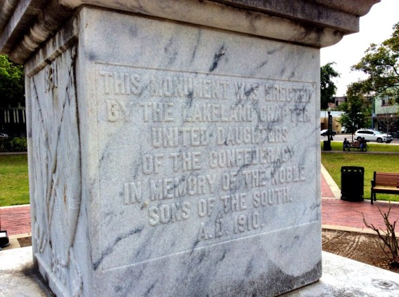 Sons of the South inscription