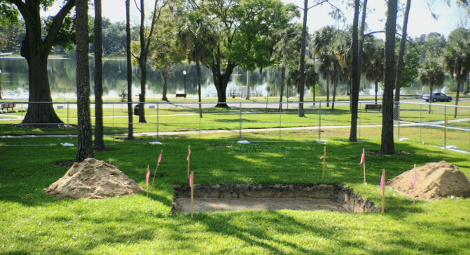 Veterans Park is being readied to receive the monument