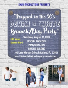 Trapped in the '90s Denim & White Brunch/Day Party @ Sorosis Building