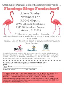 Flamingo Bingo Fundraiser @ United Women's Club