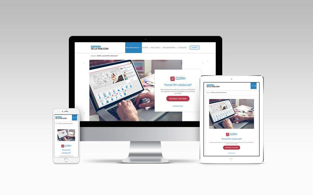 affichage responsive site gestion de la paie