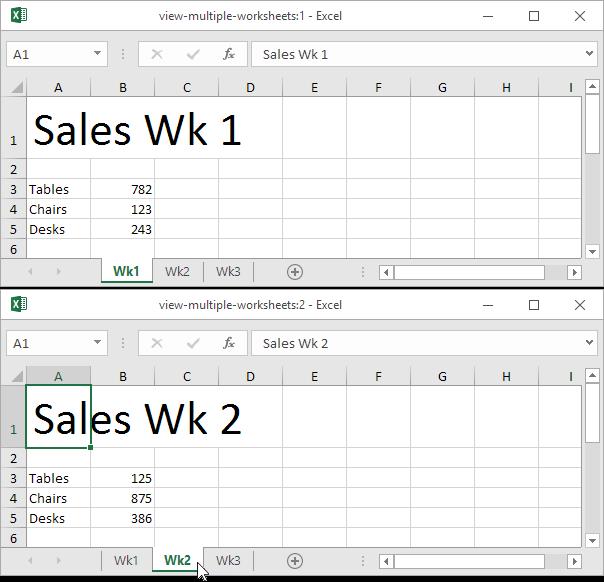 Lihat Beberapa Lembar Kerja Excel