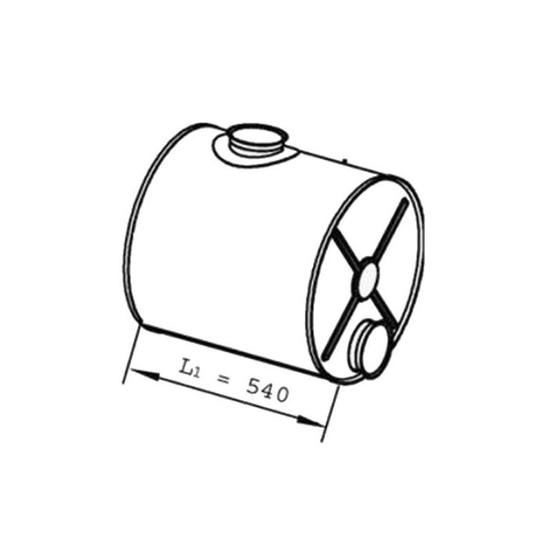 1389455 Mittelschalldämpfer passend für DAF CF75 CF85