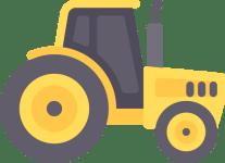 Landwirtschaftliche Zugmaschinen schwarzes Kennzeichen