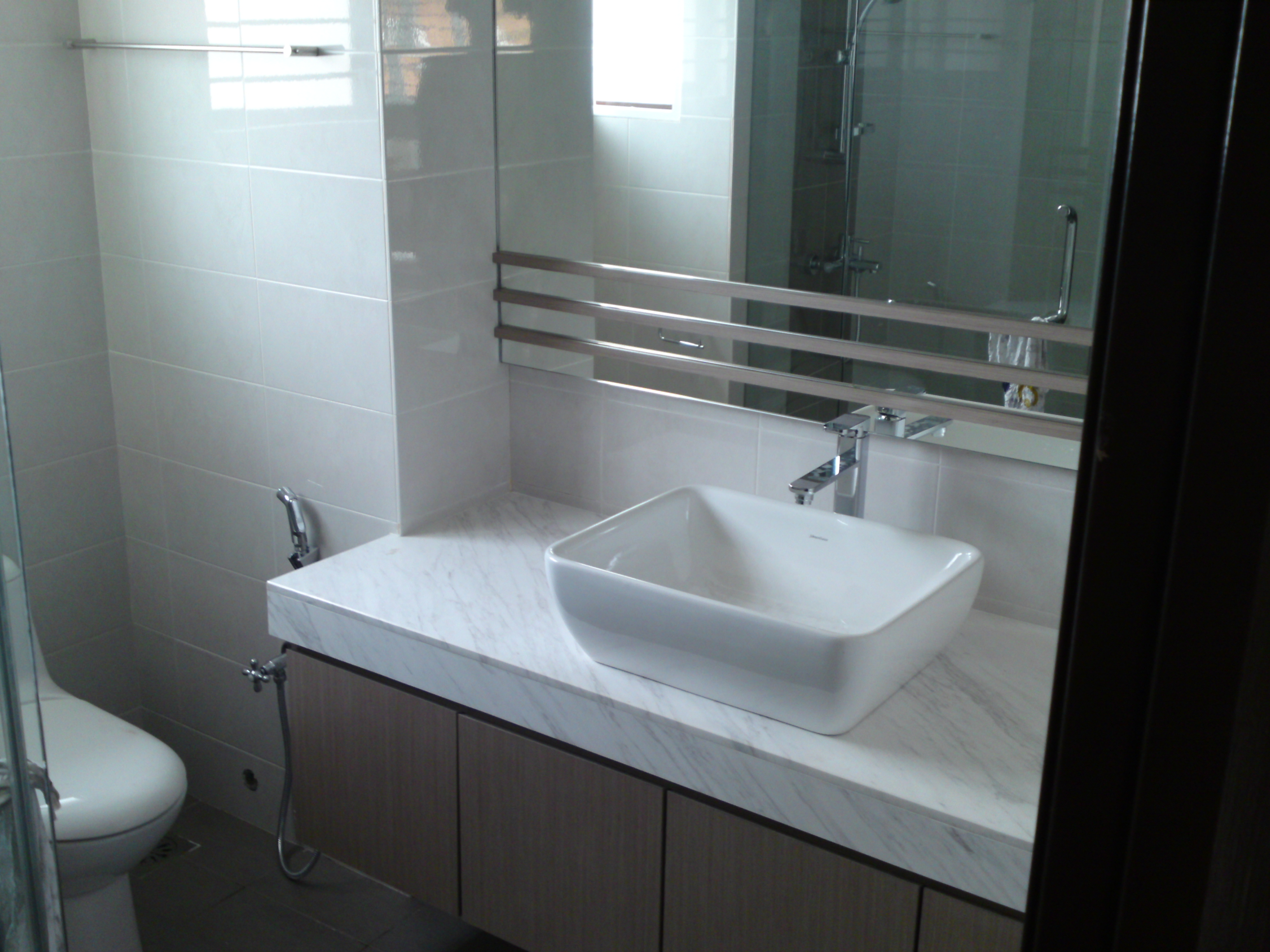 Bathroom cabinet with solid surface  LKY Renovation Works
