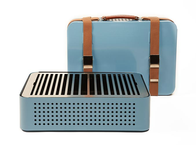 Barbacoa Mon Oncle 44x32x16,6cm blue. 303€. Barbacoa saludable