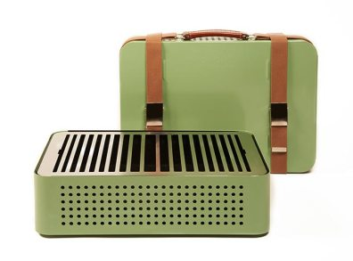 Barbacoa Mon Oncle 44x32x16,6cm green. 303€. Barbacoa saludable