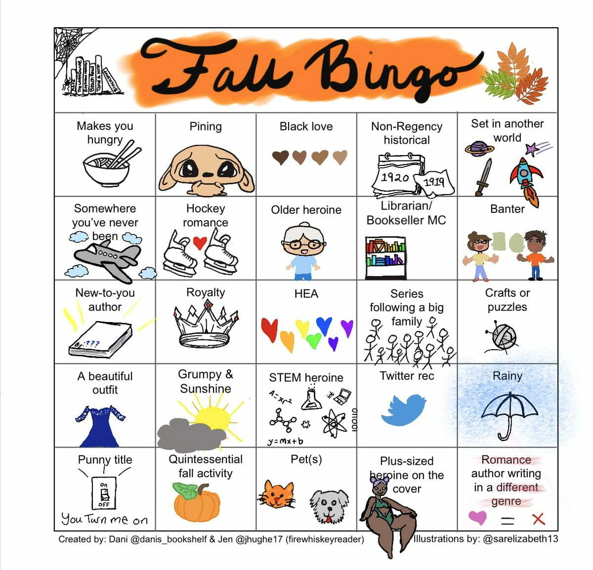 FallIntoRomBingo card