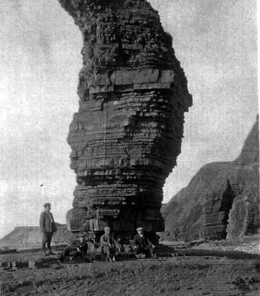Early photo of Gulls Needle Llanrhystud