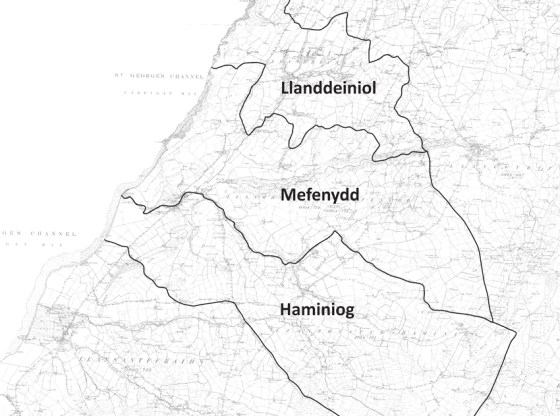 Llanrhystud Parish Boundary Map