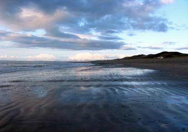 View of Llanrhystud beach looking North towards Aberystwyth