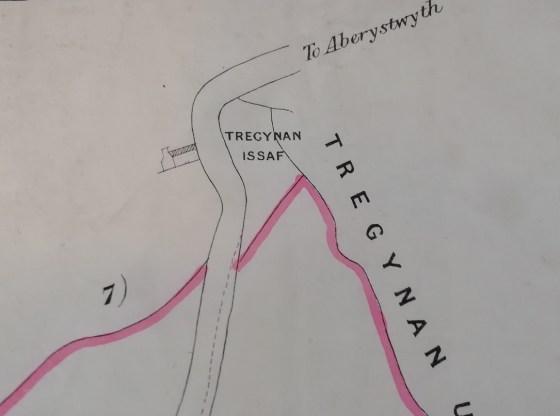 Tregynan Isaf Farm 1884 map