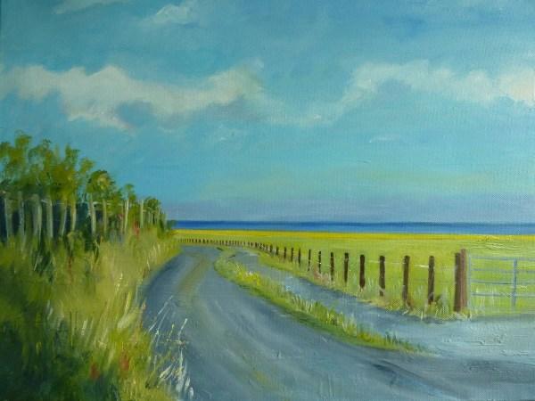 Llanrhystud beach road