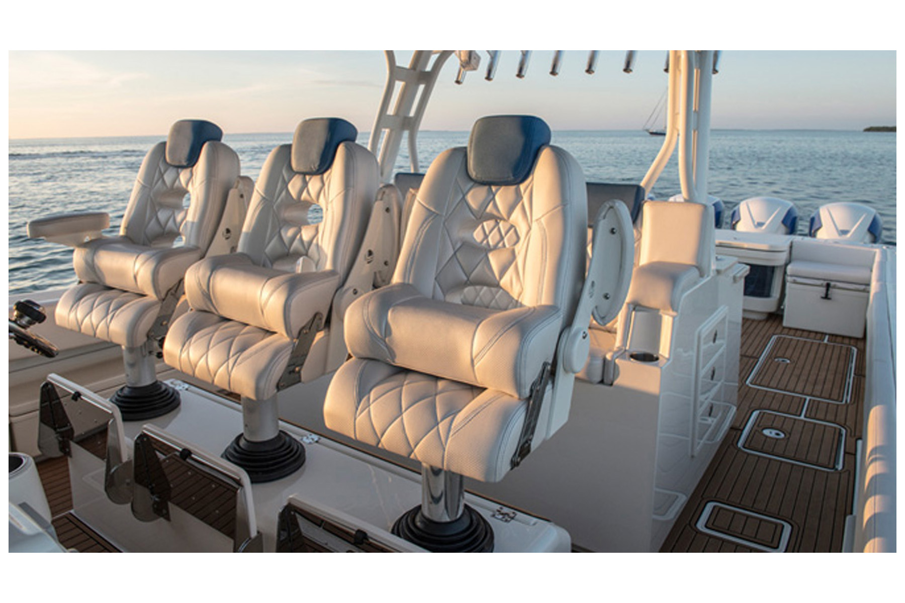 replacement captains chairs for boats folding chair covers party llebroc billfish triple with single needle diamond stitching gt2 bass boat seats