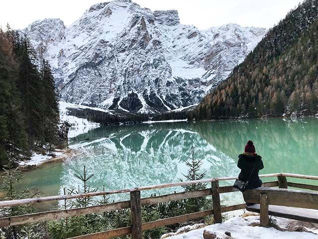 Italia en invierno: Lag di Braies