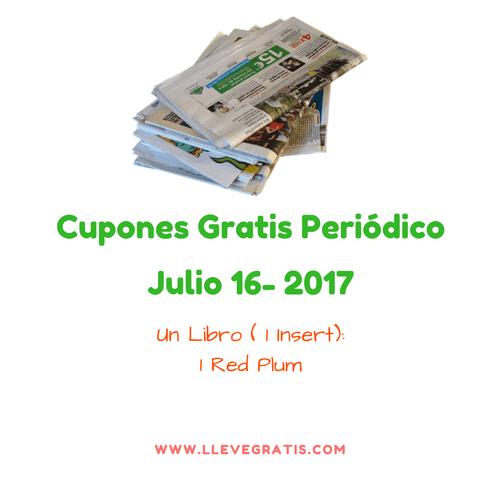 230ee0dc8 Listado de Cupones Gratis en el Periodico del Domingo (16-Julio-2017 ...