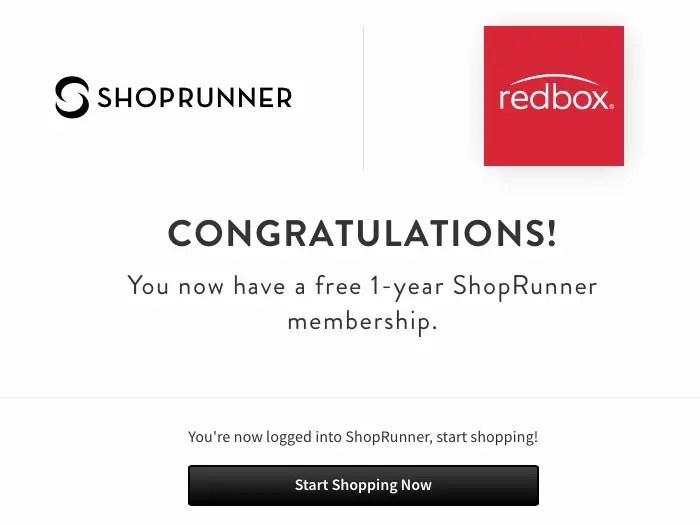 Gratis:  ShopRunner por un año (No pide Datos de Pago)
