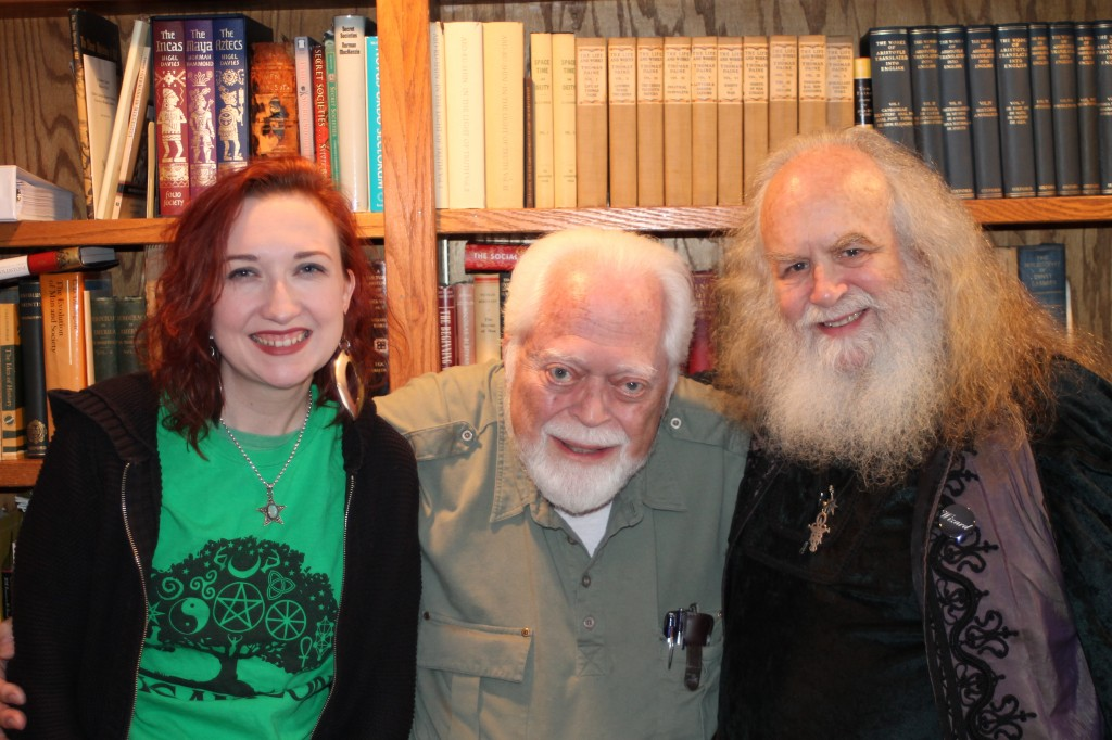 Me, Carl, and Oberon Zell, when they got together again for probably the first time in 40 years, following Oberon's appearance at our local conference, Paganicon. (Llewellyn is a proud sponsor!)