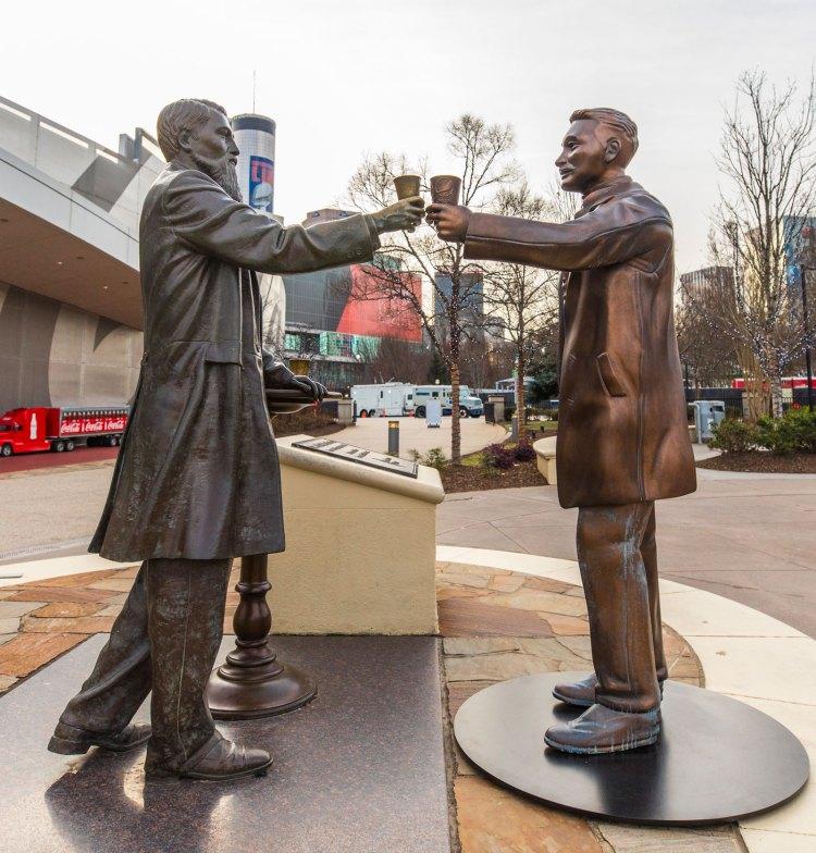 pepsi-coke-statue-atlanta-coca-cola-truce-super-bowl-2019