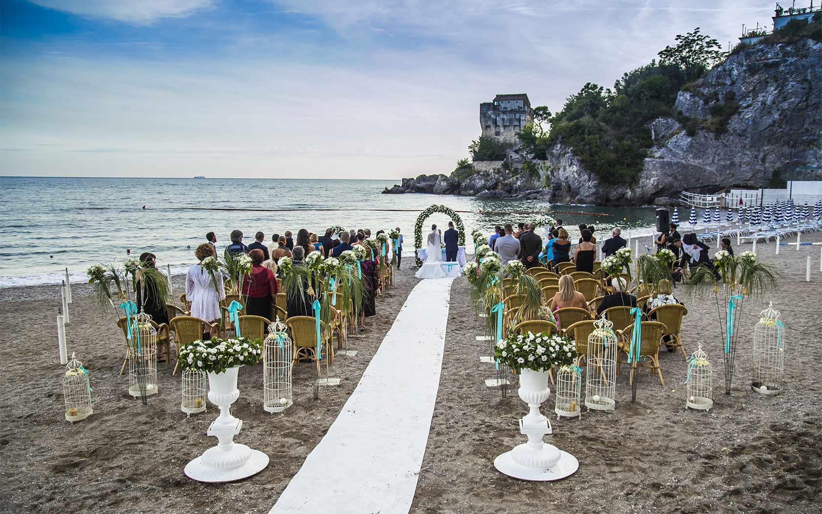 Matrimoni Costiera Amalfitana  Cerimonia di nozze sul mare