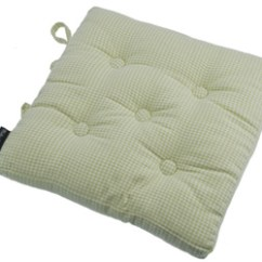 Green Chair Cushions Skirted Wingback Seat Pads For Kitchen And Dining Chairs Auberge French Buttoned Pad