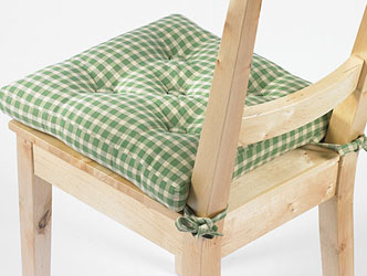green chair cushions stackable office chairs canada seat pads with matching tablecloths and place mats from linen aspen gingham pad