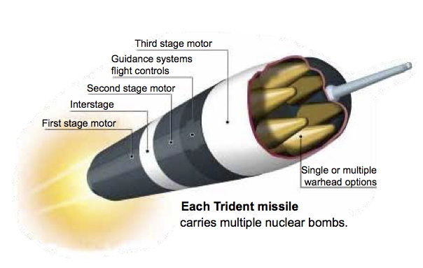 Trident MIssile Cutaway