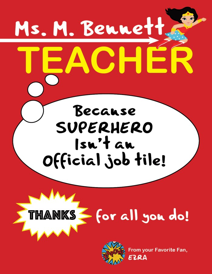 Teacher Appreciation Creatives, teachers gifts