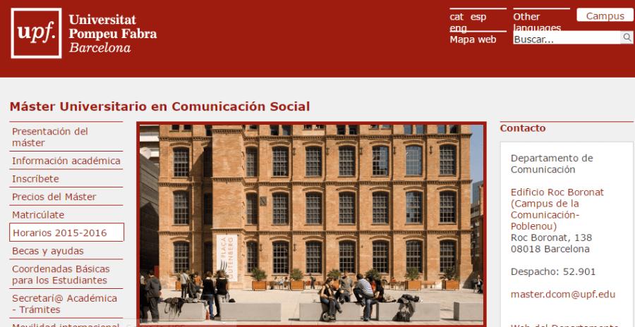 Máster Universitario en Comunicación Social